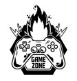 logo gamepad for play arcade video game vector image