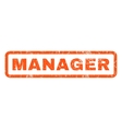 Manager Rubber Stamp vector image vector image