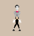 Mime performance - dancing vector image vector image