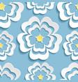Modern seamless pattern with 3d sakura flower vector image vector image