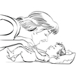 mother and newborn baby love vector image vector image