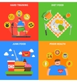 obesity 2x2 design concept vector image vector image