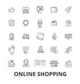 online shopping ecommerce mobile store cart vector image