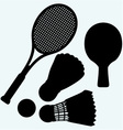 Ping pong tennis and badminton vector image vector image