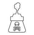 poison icon outline line style vector image vector image