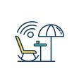 public wi-fi rgb color icon vector image