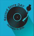 record store day retro vintage template 3 vector image vector image