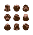 set of chocolate candies isolated vector image vector image