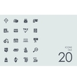 Set of tax icons vector image