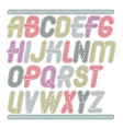 set of trendy modern capital alphabet letters vector image vector image
