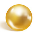 single gold pearl isolated on white background vector image