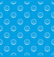 slice of sausage pattern seamless blue vector image vector image