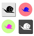 snail flat icon vector image vector image
