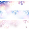 Snow christmas banners vector image