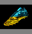 soccer football boot with the flag of ukraine vector image vector image