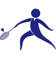 Sport icon design for badminton vector image vector image