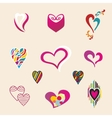 Valentine hearts set vector image vector image