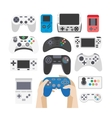 video game icons set collection gaming devices vector image