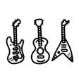 vintage styled guitar template music icon or logo vector image vector image