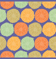 violet seamless pattern with citrus slices vector image vector image