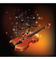 Violin With Melody vector image vector image