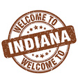welcome to Indiana vector image vector image