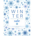 winter sale banner or poster template design vector image