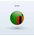 Zambia round flag vector image vector image