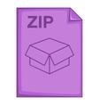 ZIP file icon cartoon style vector image vector image