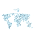 world map from circles for infographic vector image
