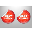 Best Choice Red Label vector image