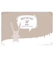 Greeting Card with Christmas Rabbit vector image