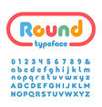 Rounded font alphabet with donut effect letters vector image