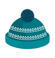winter hat clothes icon vector image