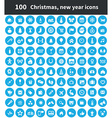 100 new year icons vector image vector image
