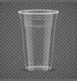29plastic glass vector image