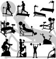 male exercise silhouettes
