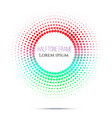 abstract circle green and red gradient halftone on vector image vector image