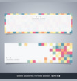 abstract colorful cube banners of modern vector image vector image