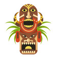 ancient ritual mask with angry faces from mayan vector image vector image
