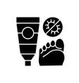 antifungal cream black glyph icon vector image vector image