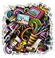 artist cartoon doodle funny art design vector image vector image