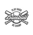 baseball logo and insignia vector image