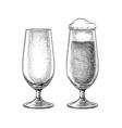Beer glasses skatch vector image vector image