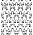 black and white flowers seamless pattern vector image