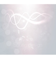 Bright White Background with Curved Lines vector image