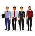 business men cartoon vector image vector image