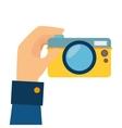 camera digital photography hand vector image vector image