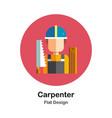 carpenter flat icon vector image