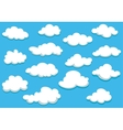 Cartooned clouds background vector image